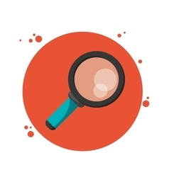 Lupe magnifying glass search circle icon vector