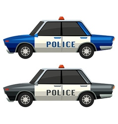 Police cars in two different colors vector