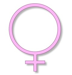 Femininity sign vector