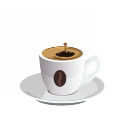Fresh coffee cup isolated vector