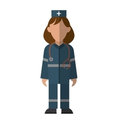 Woman paramedic urgency wearing uniform vector