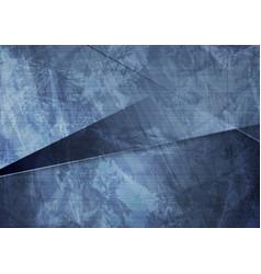 grunge material dark blue corporate background vector image
