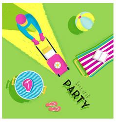 Poster backyard party vector