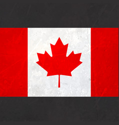 canada flag with texture vector image