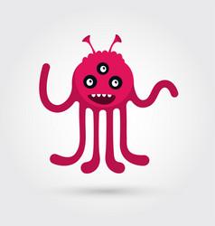 artoon cute monster vector image