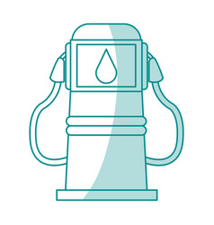 Fuel station cartoon silhouette vector