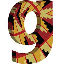 3d font letter g vector