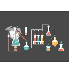 Medical laboratory infographics vector