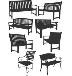al 0904 benches vector image