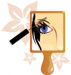 Make up picture in mirror vector