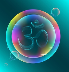 Abstract colorful OM sign vector image