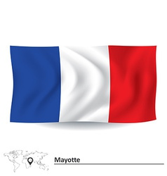 Flag of mayotte vector