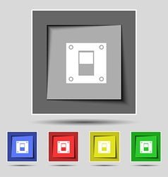 Power switch icon sign on the original five vector