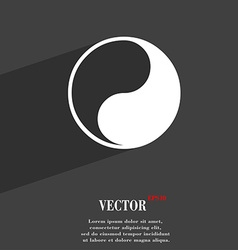 Yin yang icon symbol flat modern web design with vector