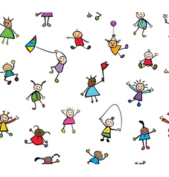 Kids pattern vector