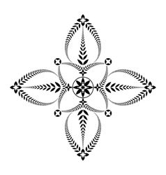 Laurel wreath tattoo unusual cross sign ornament vector