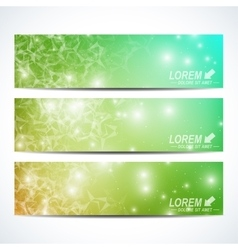 Set of horizontal banners background vector