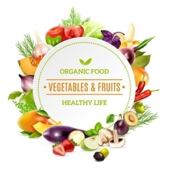Natural organic food background vector