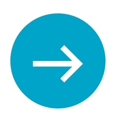 arrow pointing right inside circle icon vector image