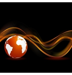 Abstract black orange technology background vector