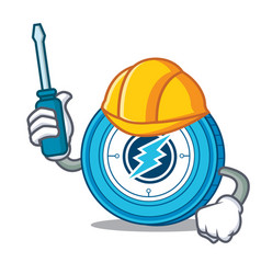 Automotive electroneum coin mascot cartoon vector