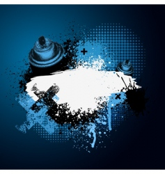 blue graffiti with spray can vector image vector image