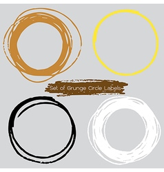 Circle Labels vector image vector image
