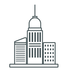 City buildings symbol vector