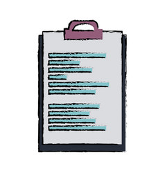 Clipboard document file office object equipment vector