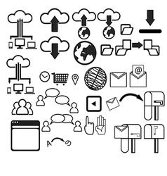Computer networking UI Set vector image