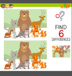 Differences game with animals vector