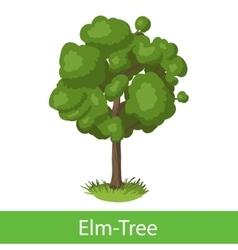 Elm-Tree cartoon icon vector image