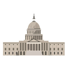 famous united states capitol building isolated vector image vector image