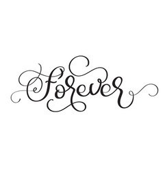 Forever vintage text on white background vector