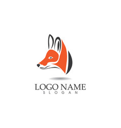 fox head logo and symbols template app vector image