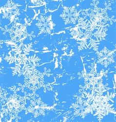 Frozen window - winter background vector image vector image