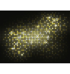 Gold shiny mosaic background vector image