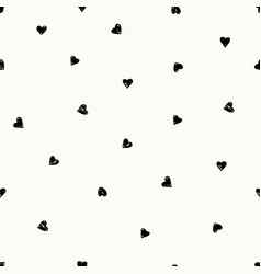 hand drawn hearts pattern vector image vector image