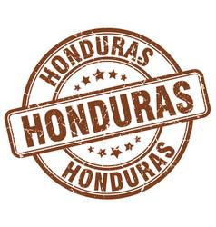 Honduras brown grunge round vintage rubber stamp vector