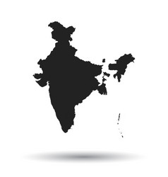 India map icon flat india sign symbol with vector
