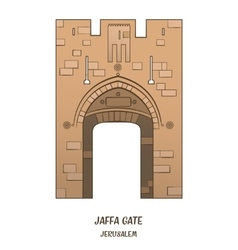 Jaffa gate in jerusalem vector