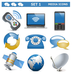 Media Icons Set 1 vector image