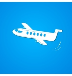 Plane symbol airplane logo vector