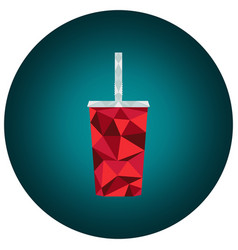 Polygonal cola cup vector