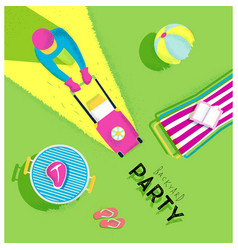 poster backyard party vector image vector image