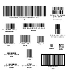 set of different barcodes isolated on white vector image vector image