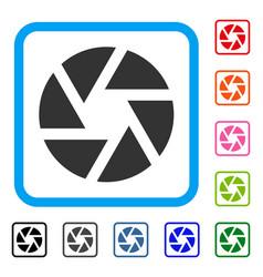 shutter framed icon vector image