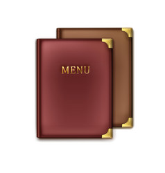 Two menu books vector