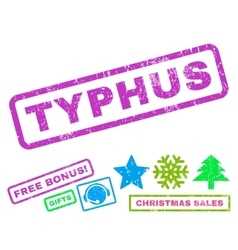 Typhus Rubber Stamp vector image