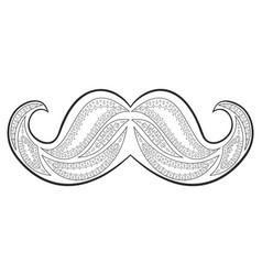Zen tangle mustache zentangle whisker coloring vector